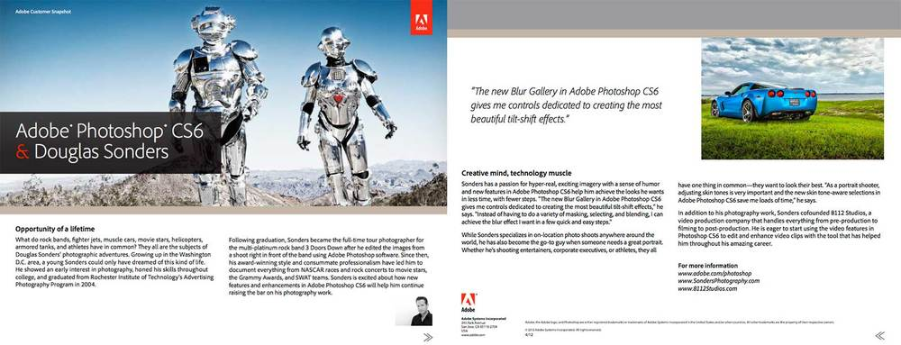 Profiled by Adobe about their software Photoshop