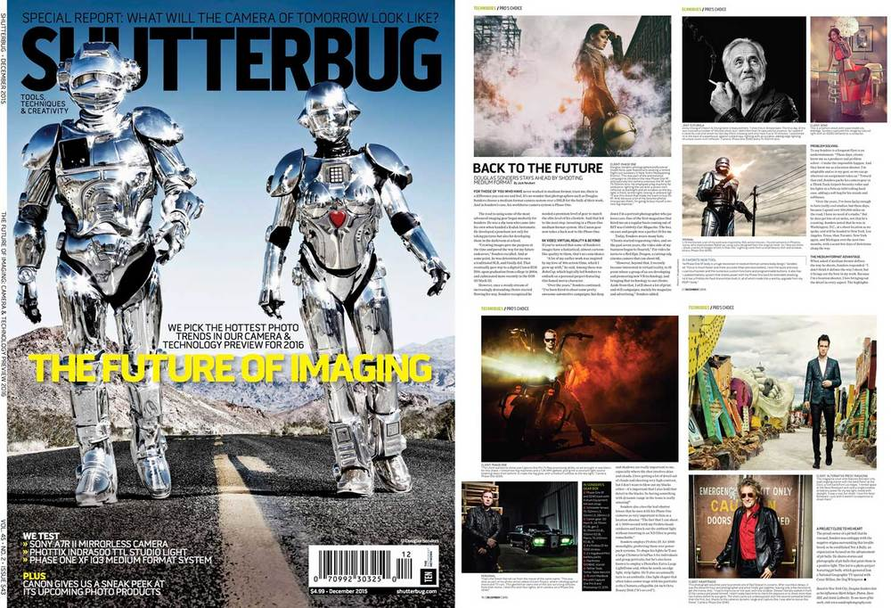 Shutterbug Magazine did a cover feature on the photography and career of 8112 Studios co-founder Douglas Sonders
