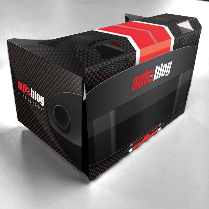 We also designed marketing material for the launch of AutoblogVR, including this racing helmet inspired VR cardboard headset giveaway.