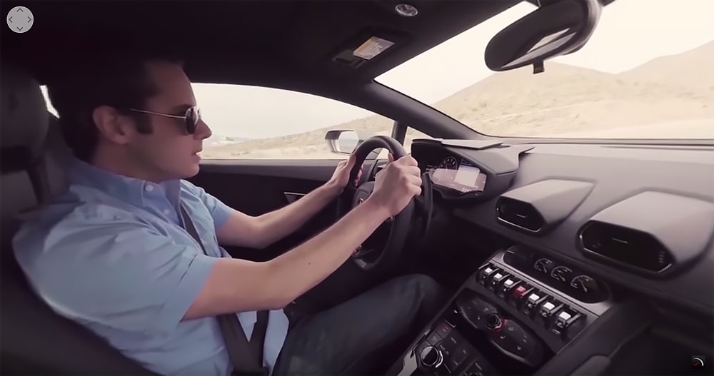 360 interior footage with high quality engine audio captured. (Video screen capture)