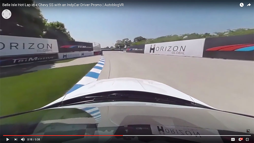 On-car footage during the hot lap. (Video screen capture)