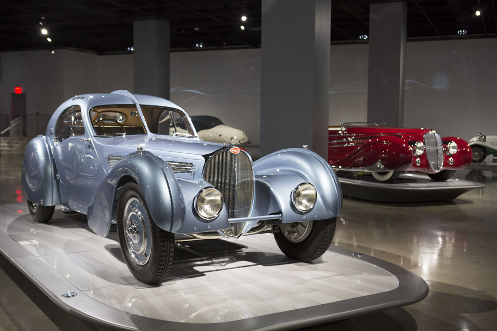 Behind the scenes. Touring the Peterson Museum Bugatti section.