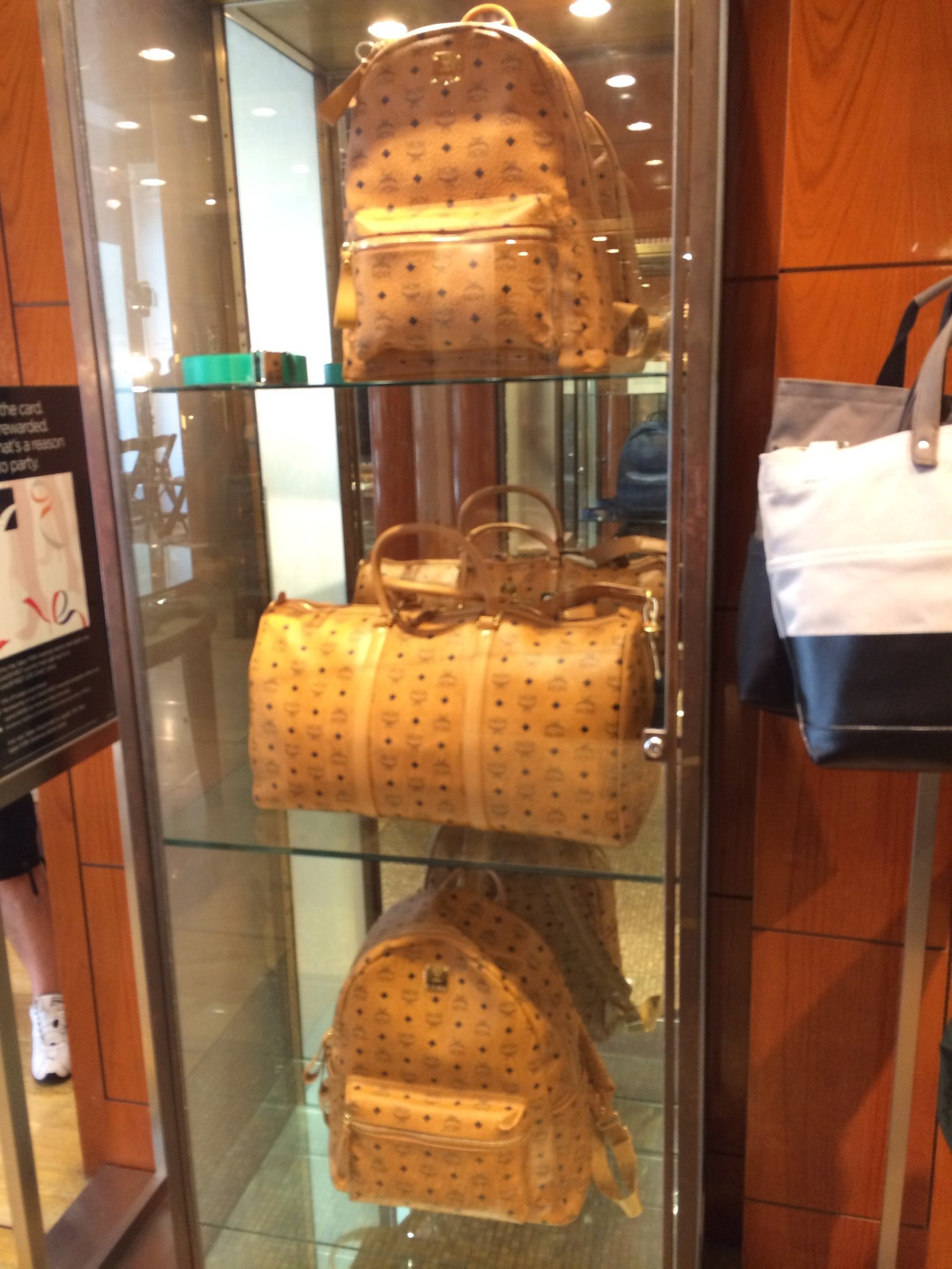 MCM luggage in Saks 5th Mens shop.