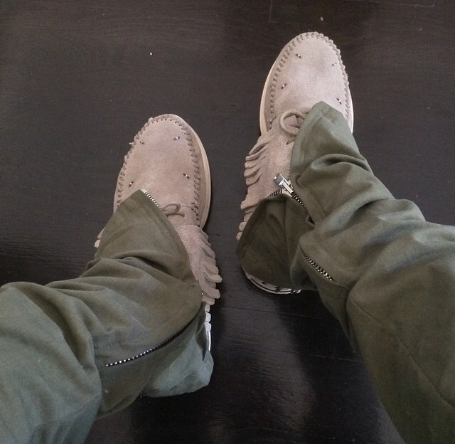 Fear Of God pants and Visvim sneakers.