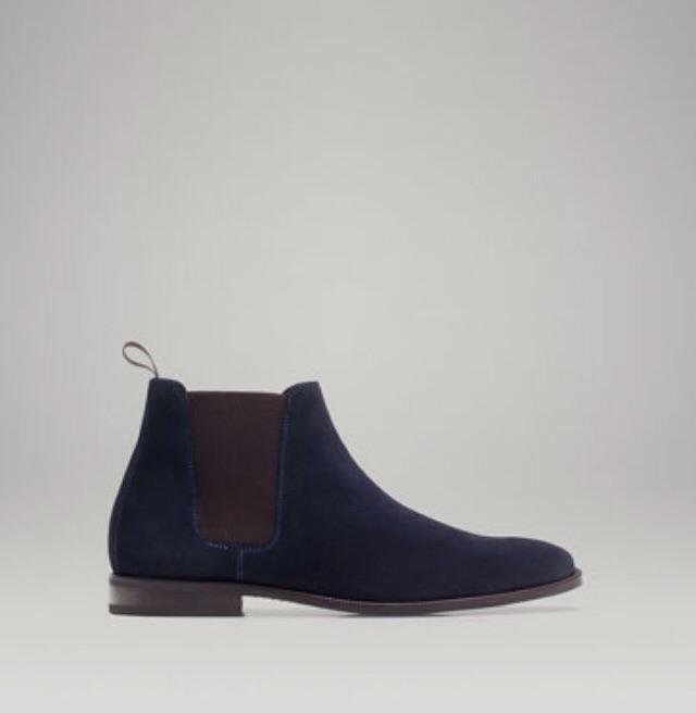Massimo Dutti Blue Chelsea Boots
