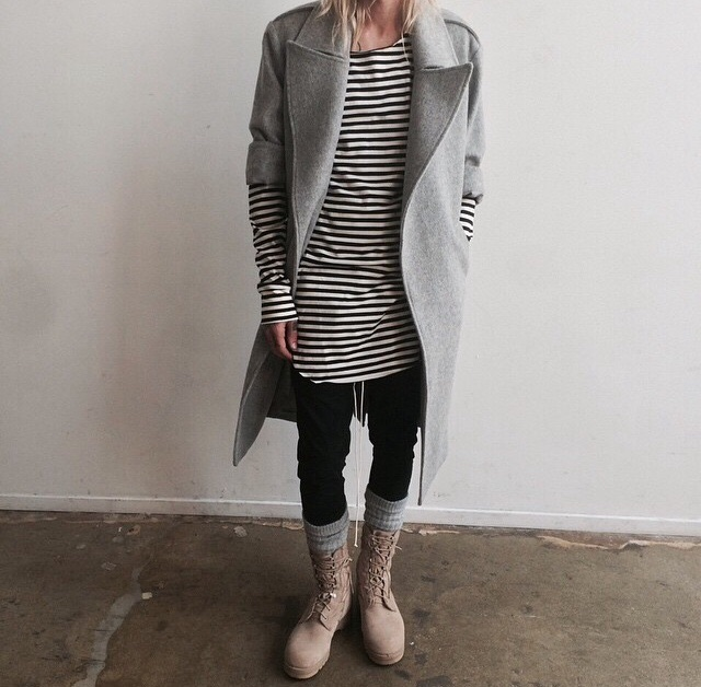 Fear of God LA- Interesting look, I prefer the chelsea boots, but this is an interesting look that I enjoy.