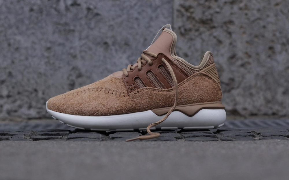 The Adidas Moc Tubular comes in Brown, Black and Blue.
