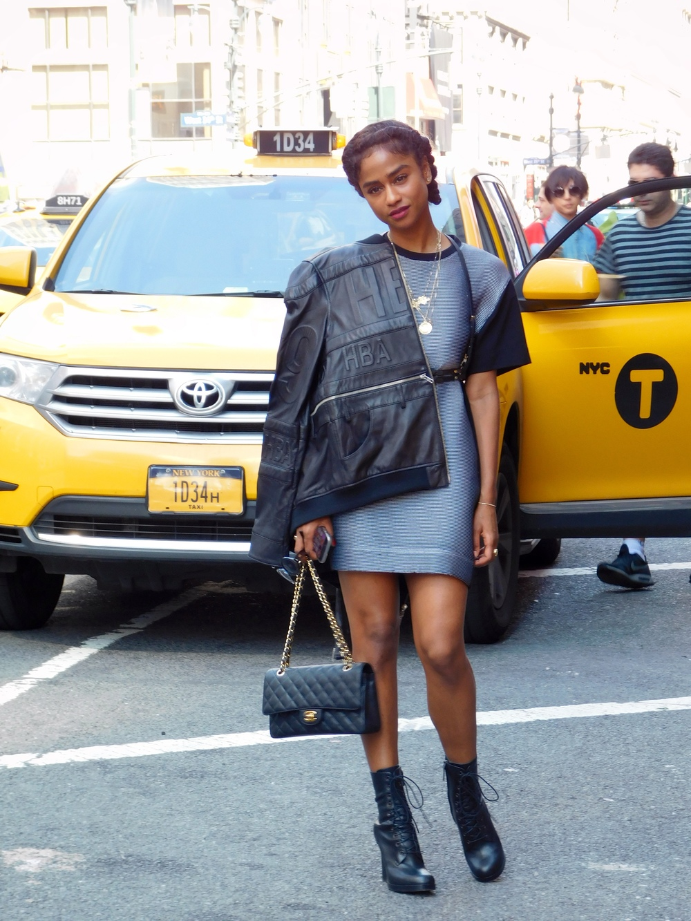 Vashtie Killing it in HBA and with the Chanel purse.
