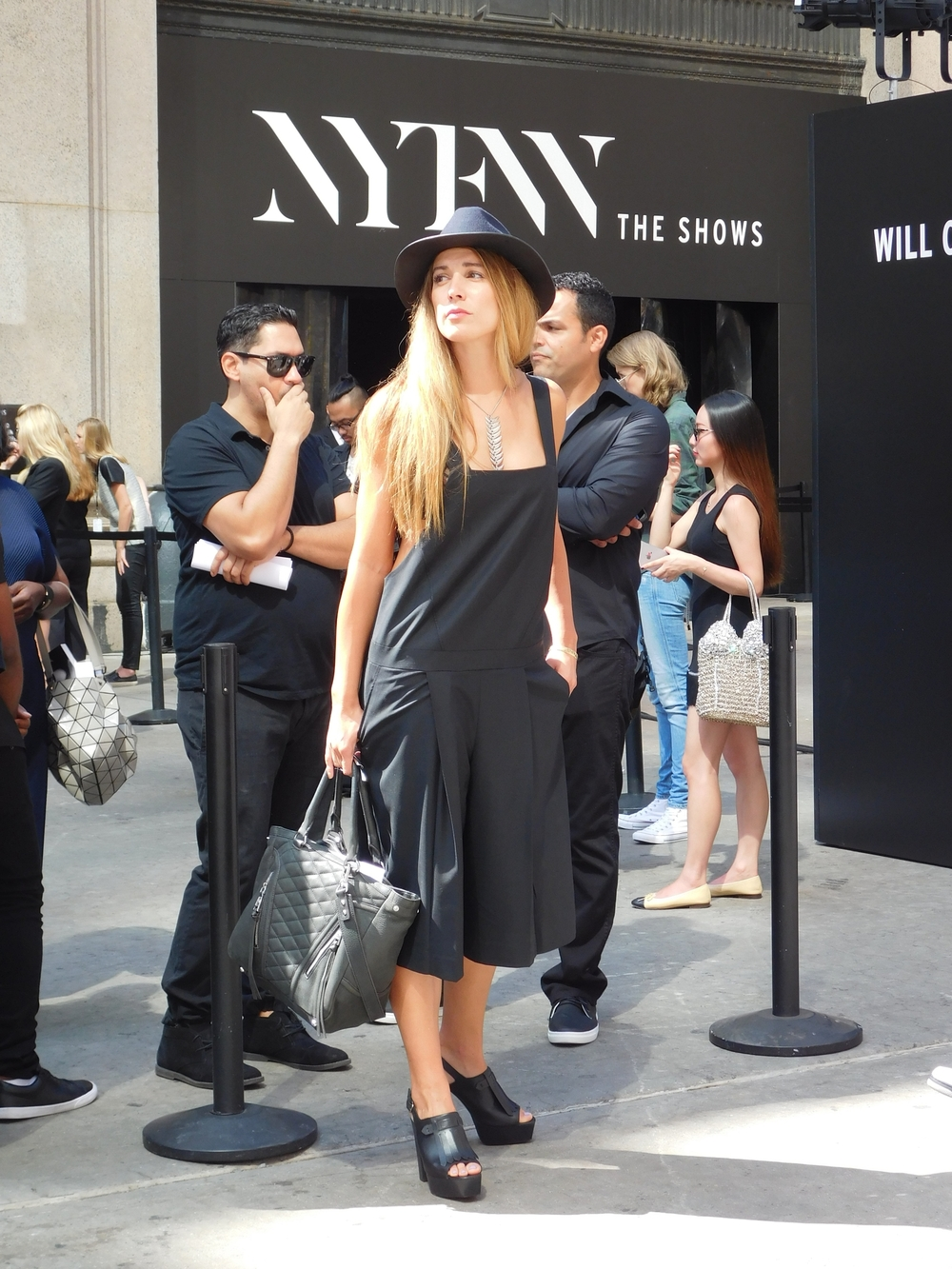 Can't go wrong with wearing all black at Fashion Week.