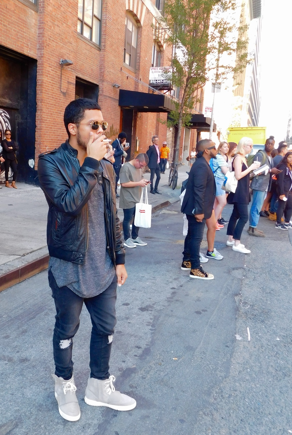 Blog the outside of kanye wests yeezy season 2 show was home to a thousand cameras and some of the most stylish individuals naturally we had to get a couple stopboris Images