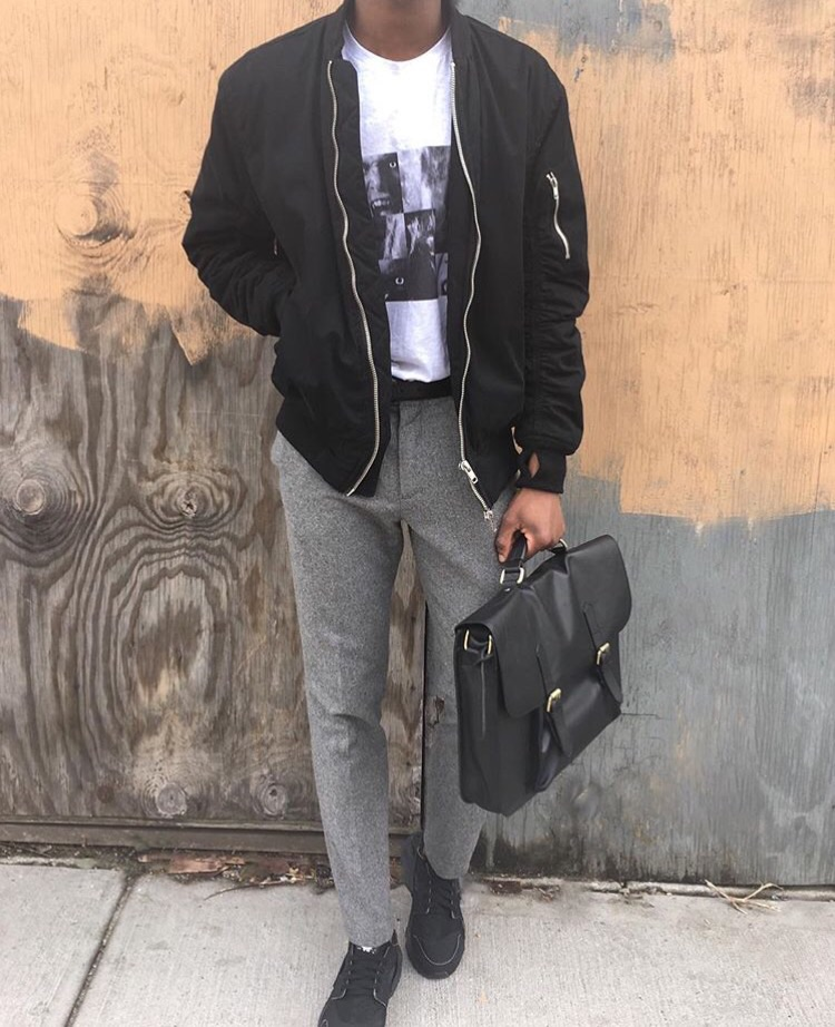 dope way to wear a bomber