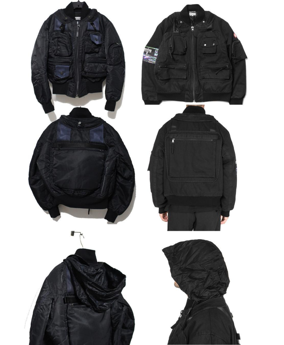 Cav Empt Utility Bomber Jacket  (right) Via @btch