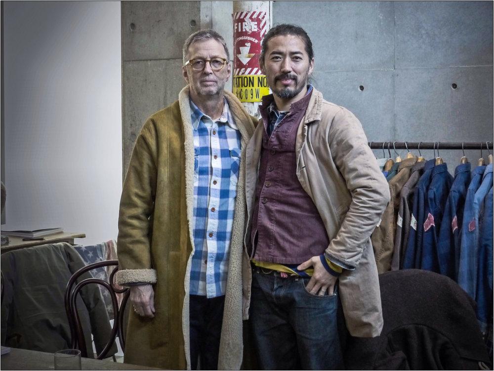 Eric Clapton (left) and Hiroki Nakamura (right) via @pinterest