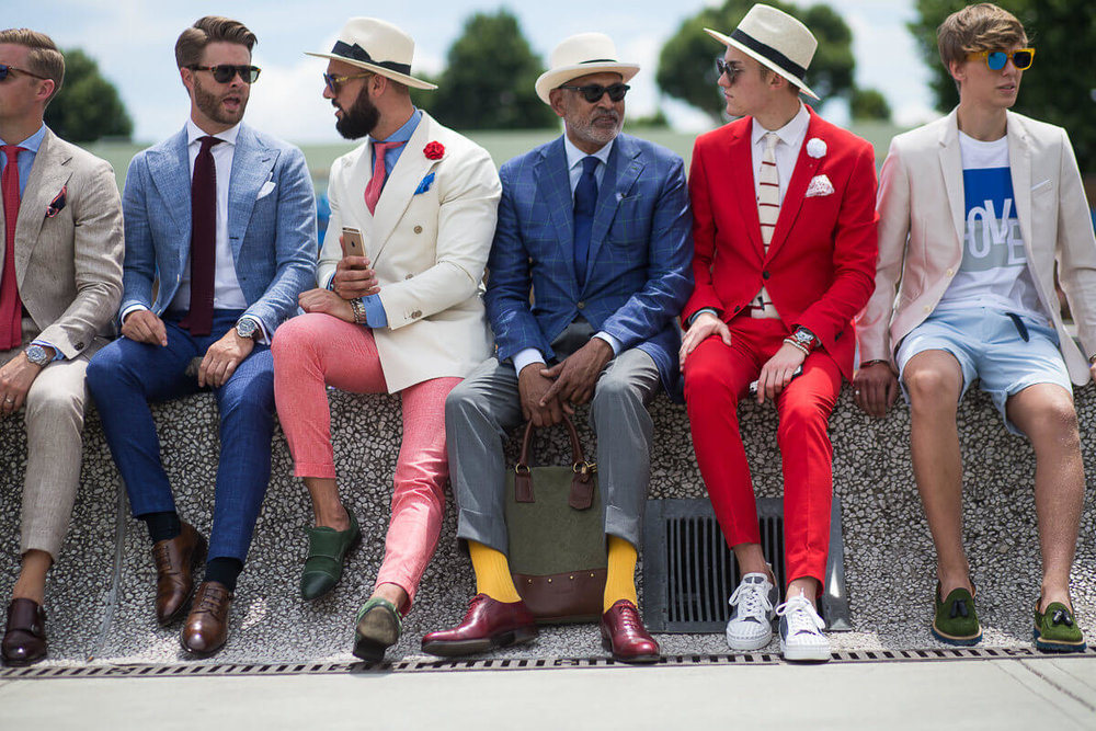 Some dapper Peacocks at the 90th outing of Pitti Uomo in June 2016