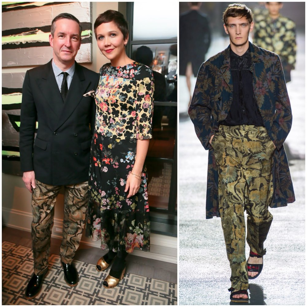 Dries Van Noten and Maggie Gyllenhaal Barneys March 2014.jpg