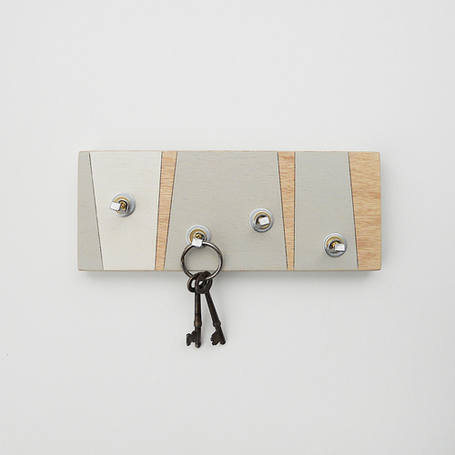 Key Holder For The Wall Fog  Geometric Wall Mount Key Holder — Pig And Fish