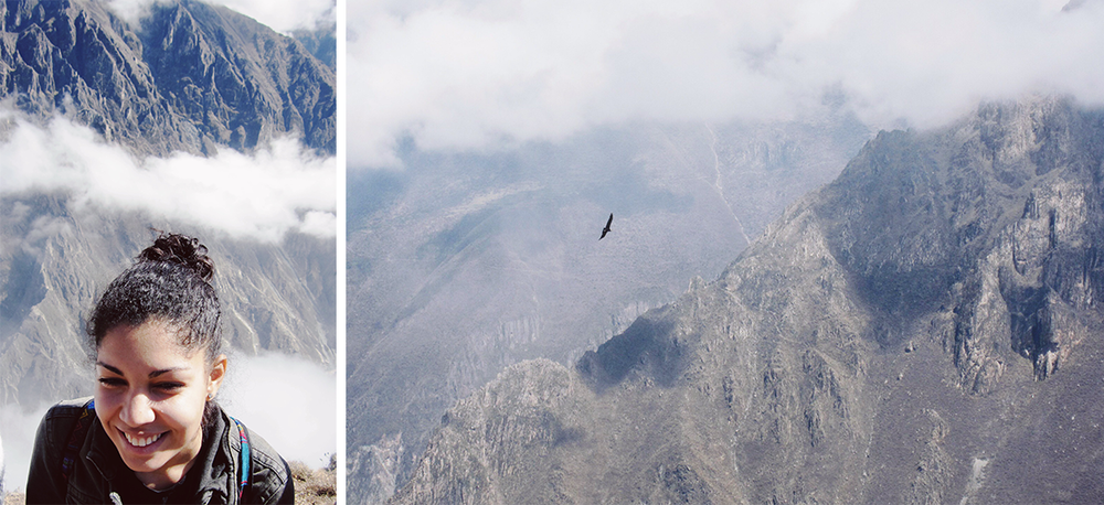 Atop Cruz del Condor with an actual condor!