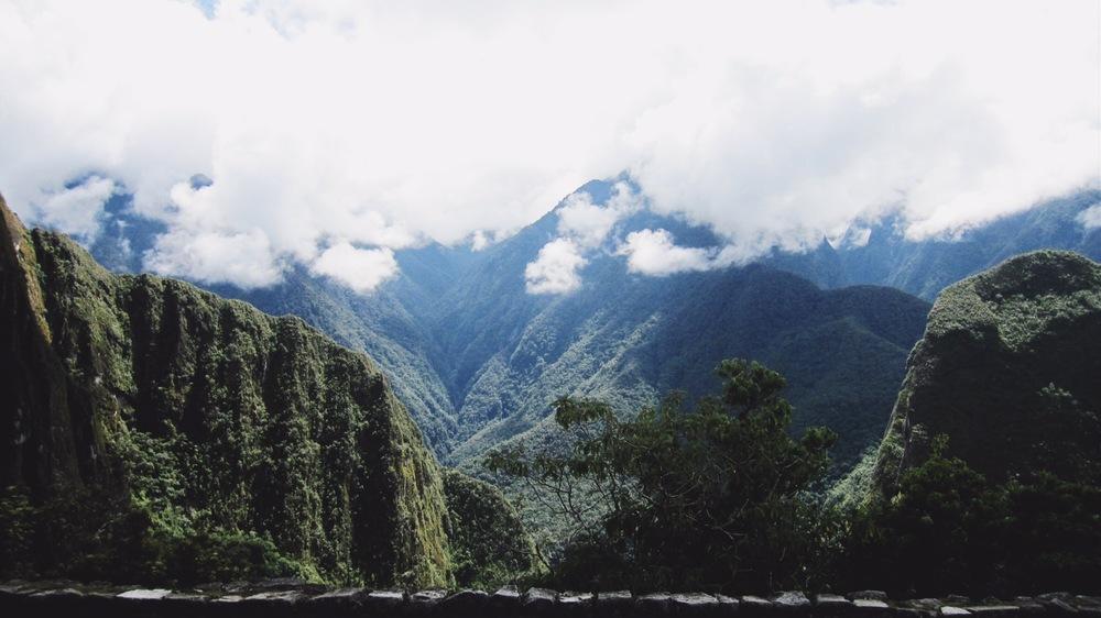 Climbing the verdant mountains