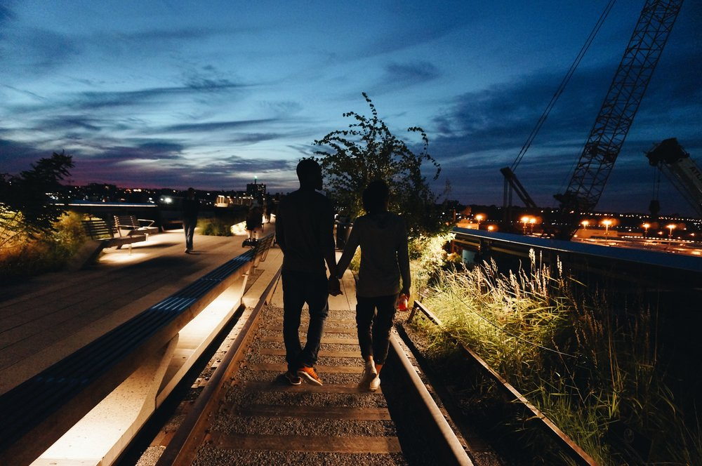 The High Line at sunset