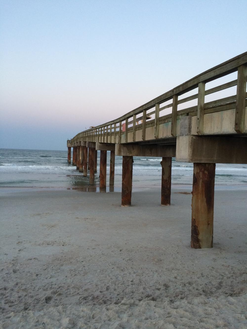 Pier em Saint Augustine Beach.