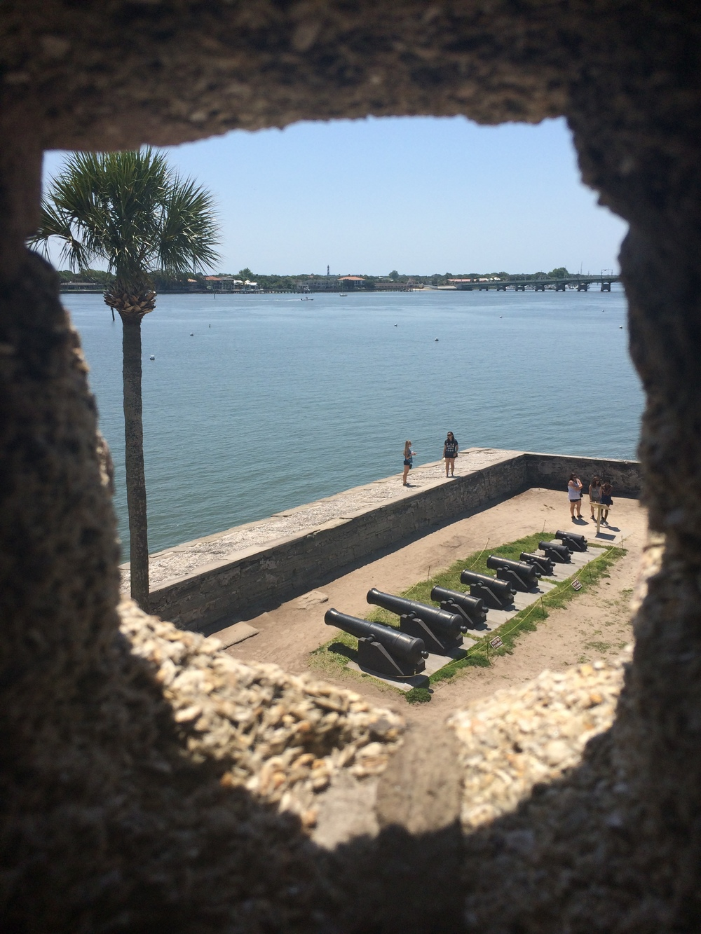 Vista de uma das pontas do Castillo de San Marcos.