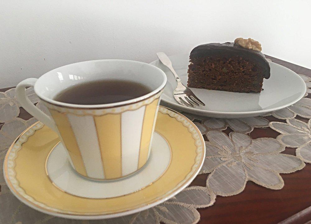 Uma fatia é um ótimo acompanhamento para um chá preto!