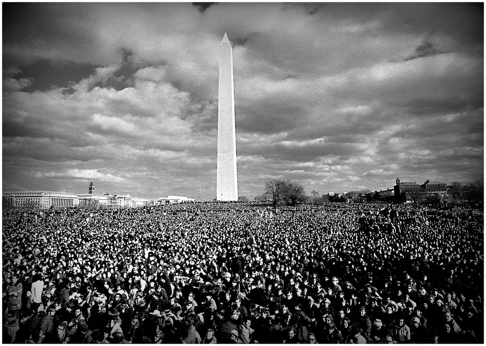 "Moratorium Day Apocalypse"" - Huge anti - war gathering in DC, November, 1969."