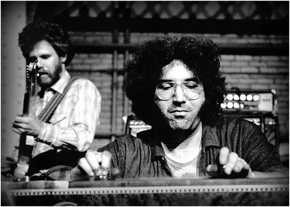"""Jerry on Pedal Steel with NRPS"" - taken at an MIT free concert, May 1970."