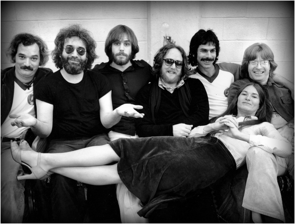"""What, Me Worry?"" - rare group shot of The Grateful Dead, NYC 1977."