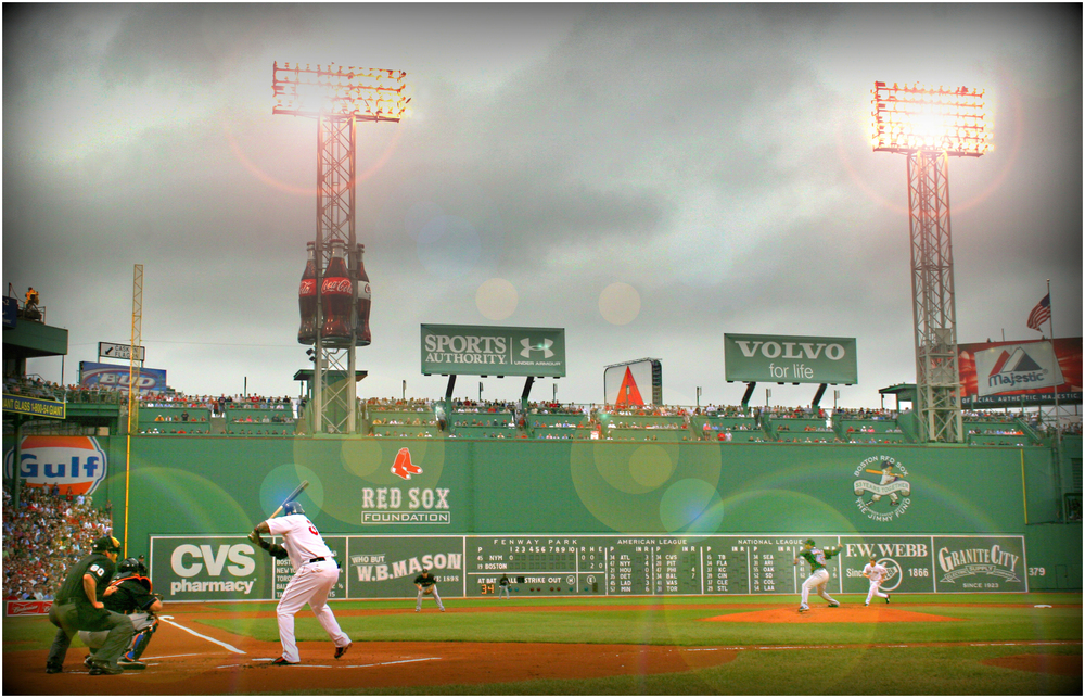 """Big Papi Faces Little Pedro"" - at Fenway, 2006."