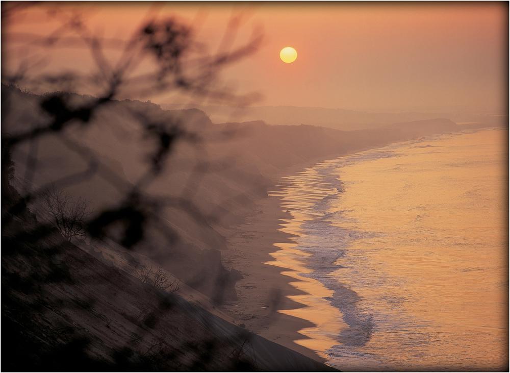 """Sunrise Along the Gold Coast"" - Chilmark, Mass. 1988."