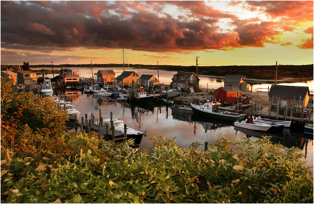 """Menemsha Glow"" - at sunset, 2008."