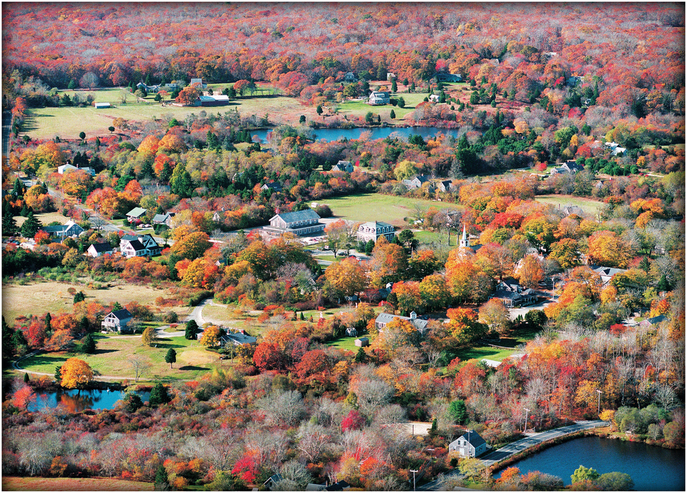 "Over View - the Colorfilled Center of West Tisbury"" , 2000."