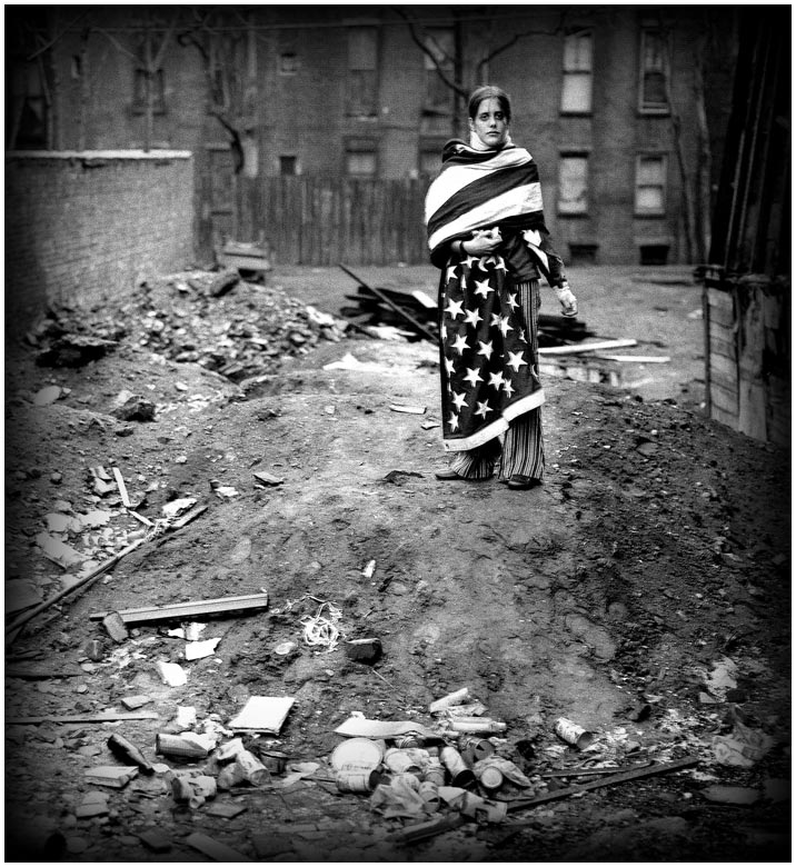 Jennifer Thomas beaten by Boston police for wearing her dead father's flag, 1969.