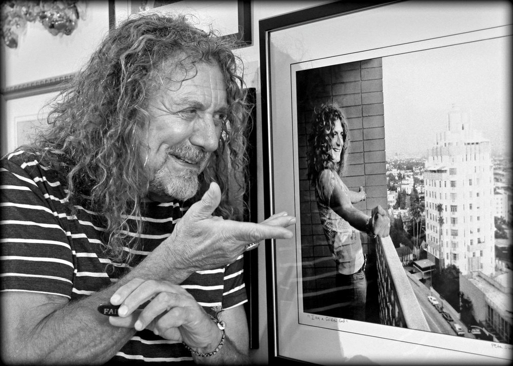 Robert Plant revisits himself at the Simon Gallery, September 2016.