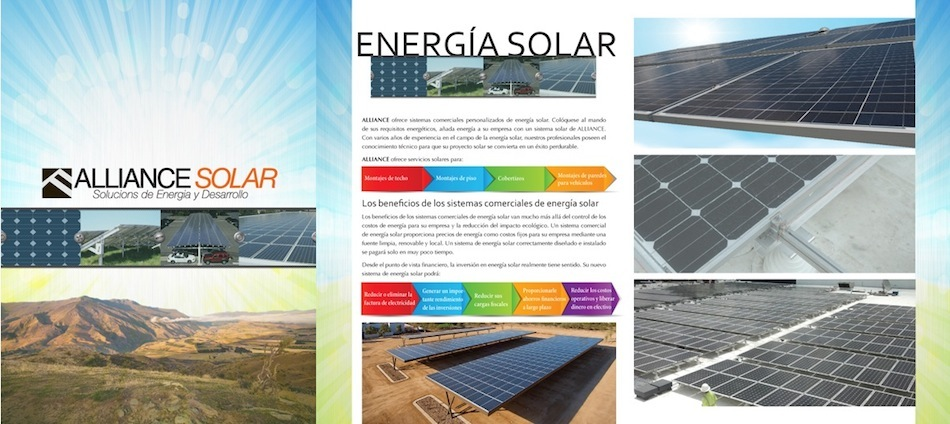 Alliance Solar Brochure and Sales Brochures  (Spanish Version)