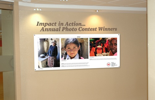 Abt Associates  Lobby Photo Contest Display - Metal Channel Letters and Customized Photo Board