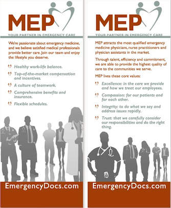 MEP Emergency Room Staffing Group Pull Up Banners