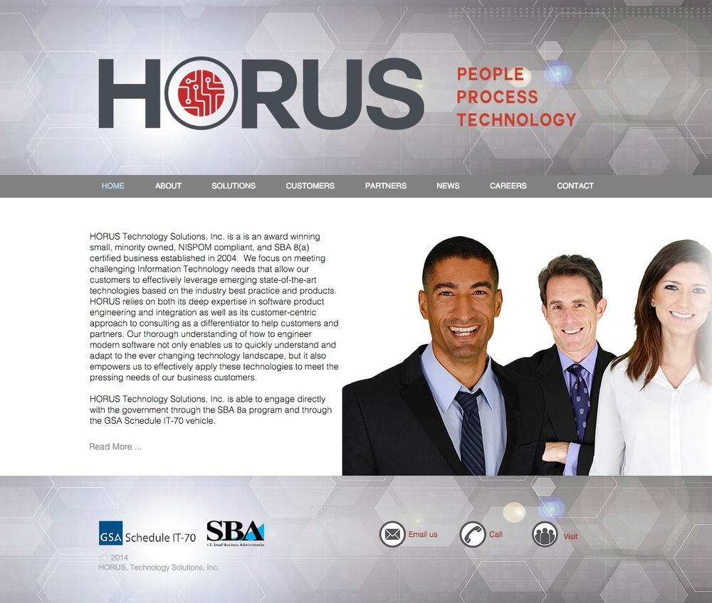 Horus   Website, Logo Design and Maintenance