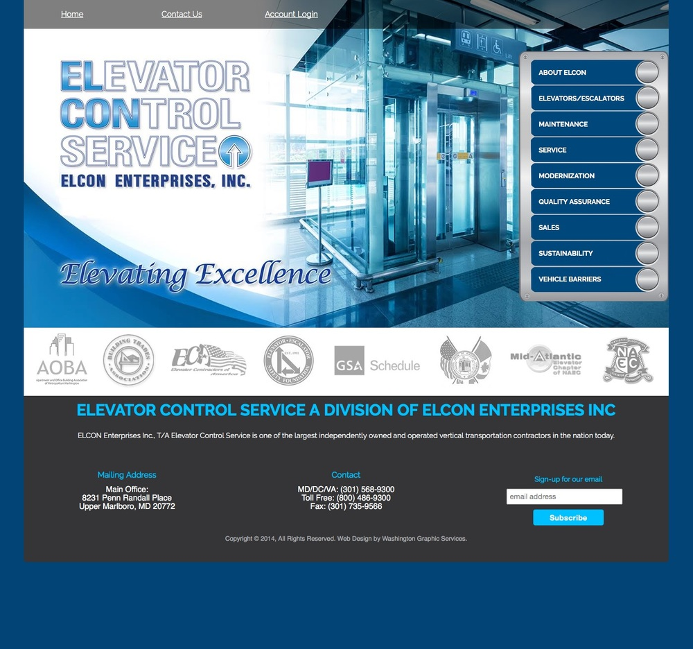 Elevator Control Service   Website, Logo Design and Marketing