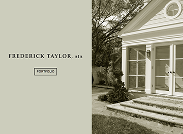 Frederick Taylor, AIA Website, branding, brochures and corporate identity.