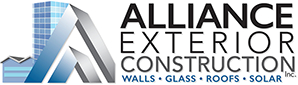 Alliance Exterior Construction  Website, branding, brochures, sales collateral, signage, office graphics, printing and corporate identity.