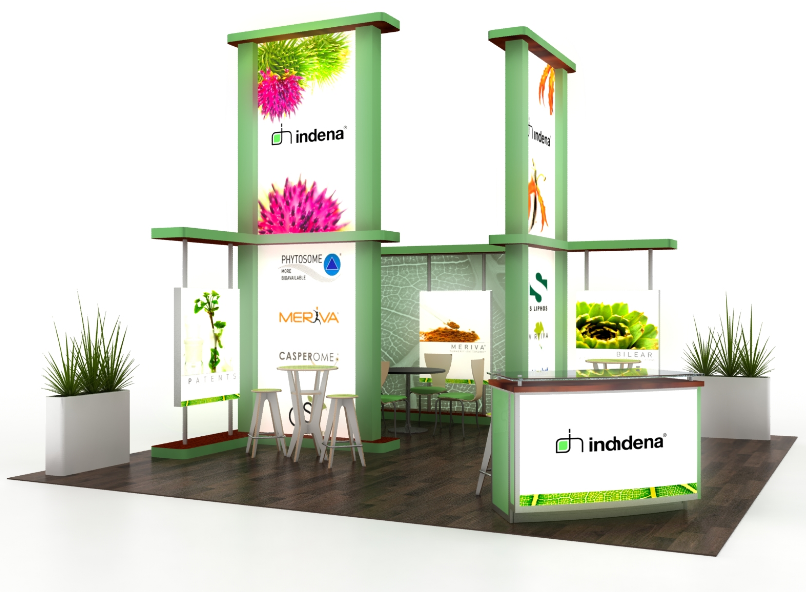 Indena Trade Show Booth, Conference Materials, Multimedia and Video Production