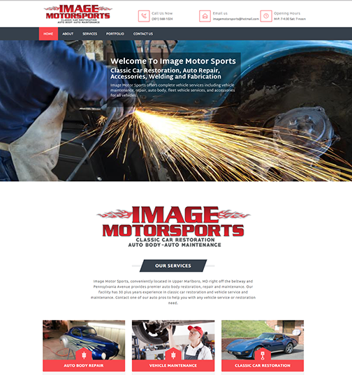 Image Motor Sports   Website design and content creation, branding, brochures, printing and corporate identity.