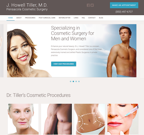 J Howell Tiller, MD   Website, Logo, Branding Design. Google AdWords Campaign