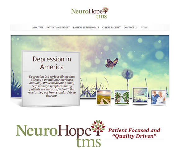 NeuroHopeTMS   Website, brochure design, marketing materials, logo/branding and printing