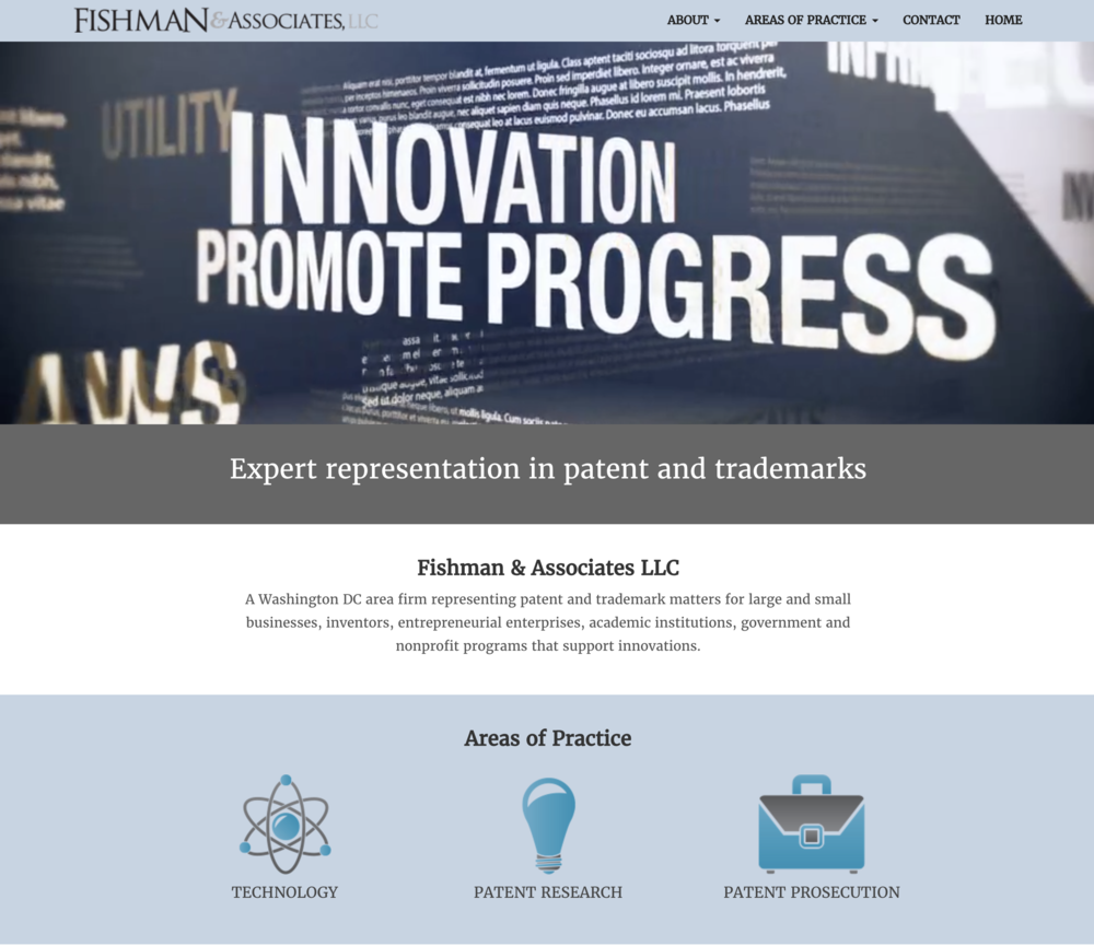 Fishman LLC, Patent and Trademark MattersWebsite, logo, branding, marketing/sales brochures and corporate identity materials