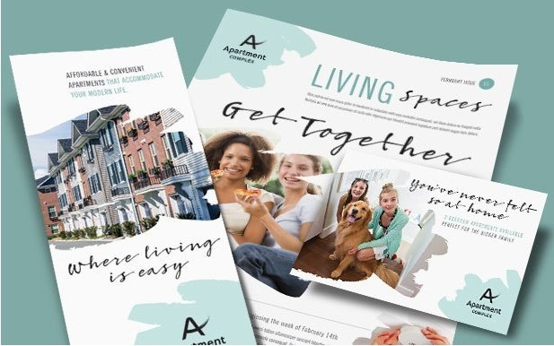 Living Apartment Complex, Rental Brochures