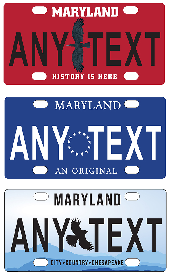 Maryland License Plate Submission 2018