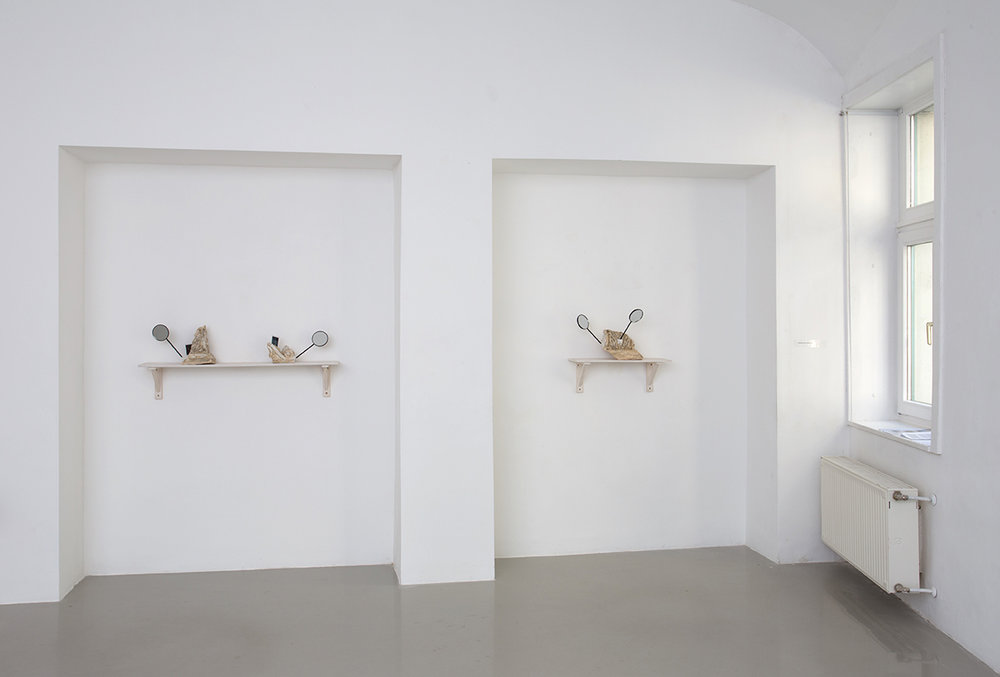 Installation view with works of ALEX MIRUTZIU, Kisterem, 2018